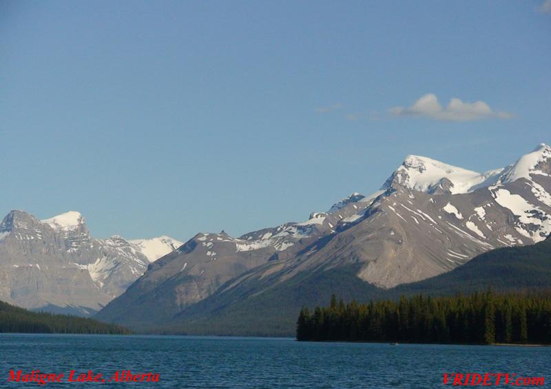 Motorcycle riding POV video: Maligne Lake in Jasper