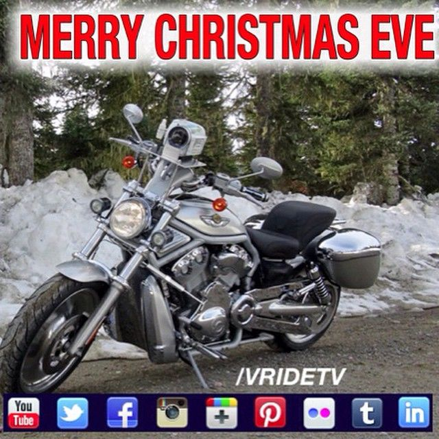 Christmas Eve harley davidson motorcycle ride