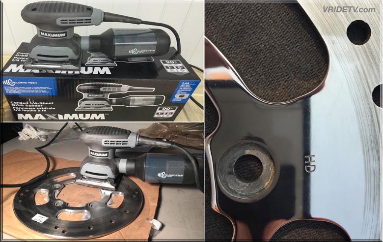 VROD brake disc sanding and polishing