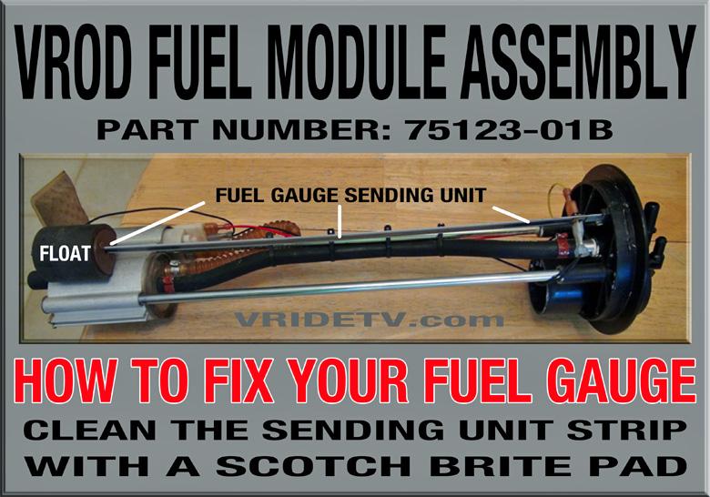 How to fix the vrod fuel gauge