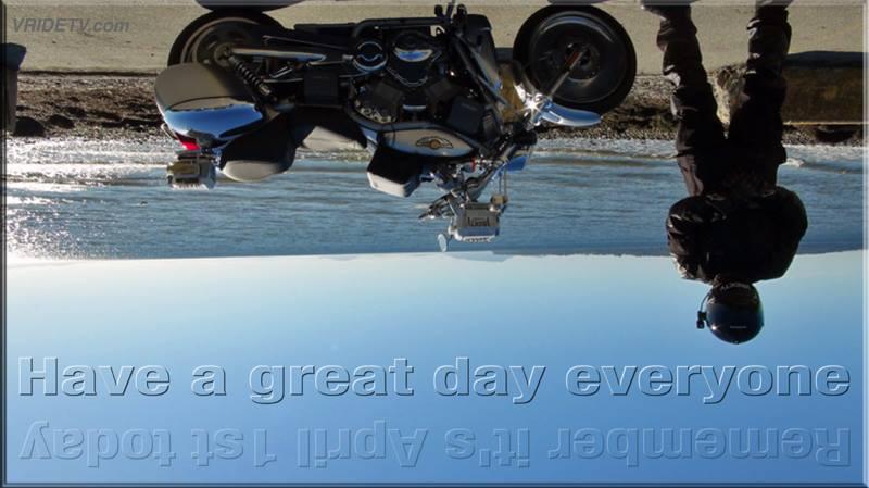 Upside down motorcycle