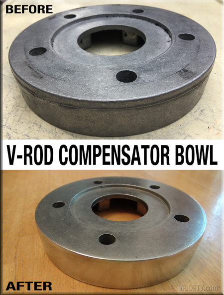 before after vrod compensator bowl