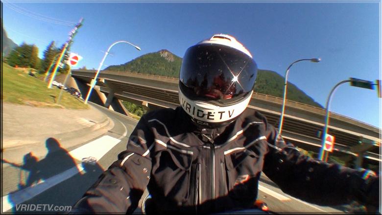 biker in Hope British Columbia