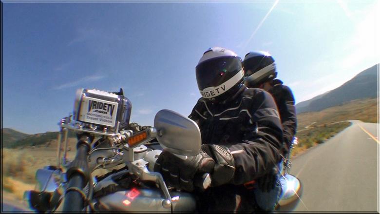 bikers on winding road