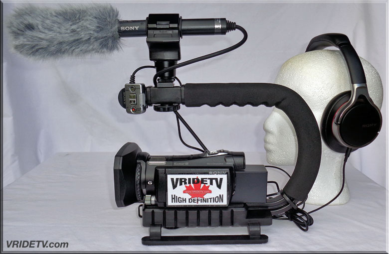 camera rig. Sony HXR-MC1 ECM-CG50
