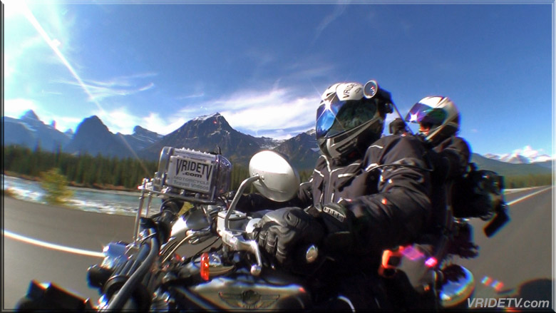 side mounted camera on motorcycle