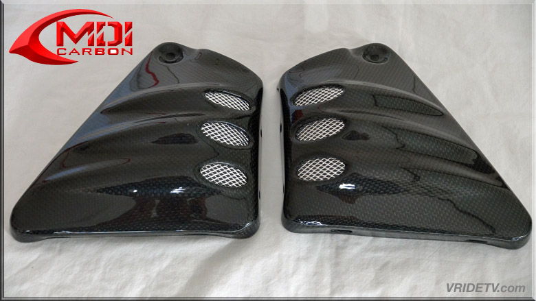 Carbon fiber side covers for VROD