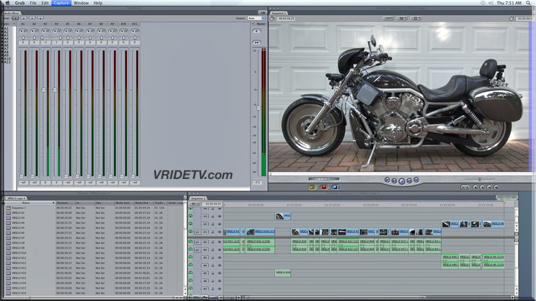 carbon fiber vrod video in final cut pro