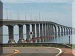 Confederation Bridge on a motorcycle