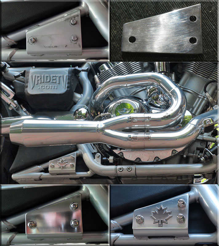 VROD exhaust bracket cover