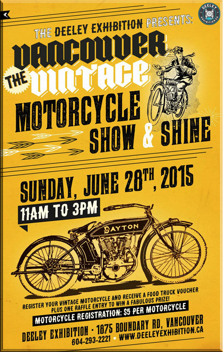 Deeley Exhibition Vancouver Vintage Motorcycle Show & Shine