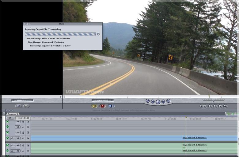 final cut pro rendering time