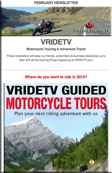VRIDETV February Newsletter