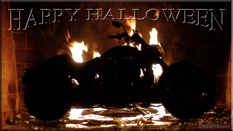 halloween motorcycle fire