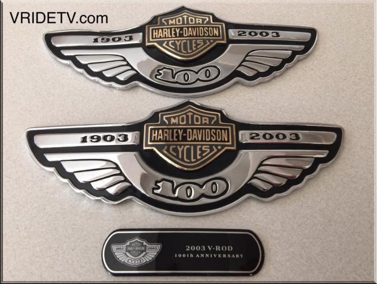harley davidson 100 anniversary emblems