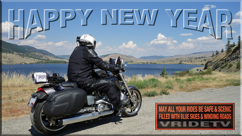 happy new year. motorcycle rider