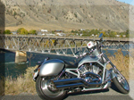 Harley Davidson Vrod video at Spences Bridge British Columbia Canada. vridetv.co,