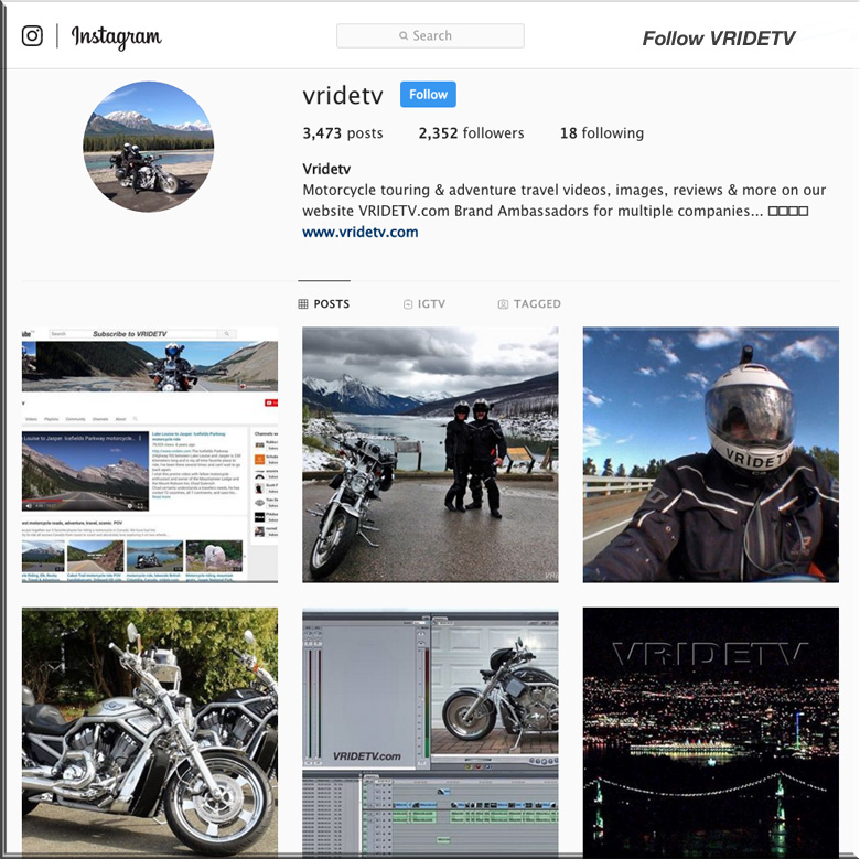 BEST motorcycle travel on Instagram
