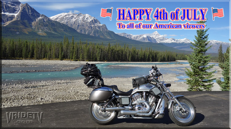 july 4th harley davidson motorcycle and mountains