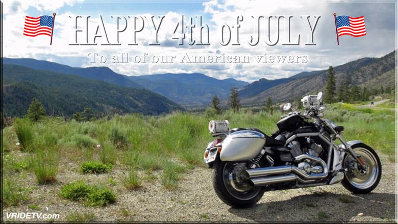 Harley Davidson Vrod 4th of July
