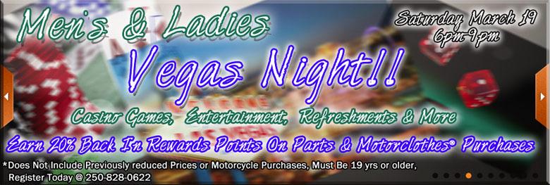 Vegas night at kamloops harley davidson
