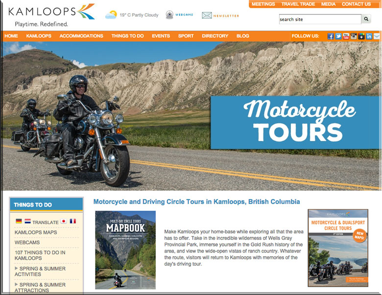 Kamloops Motorcycle tours VRIDETVcom