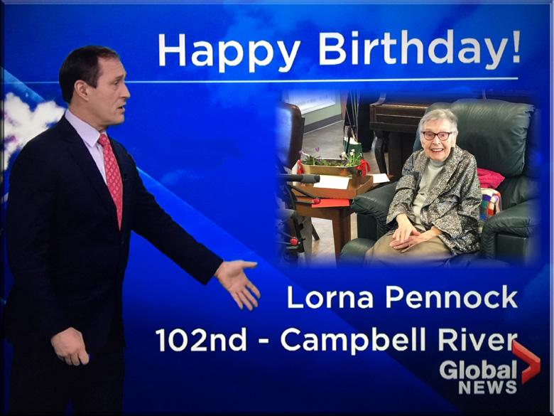 Lorna Pennock 102nd Birthday