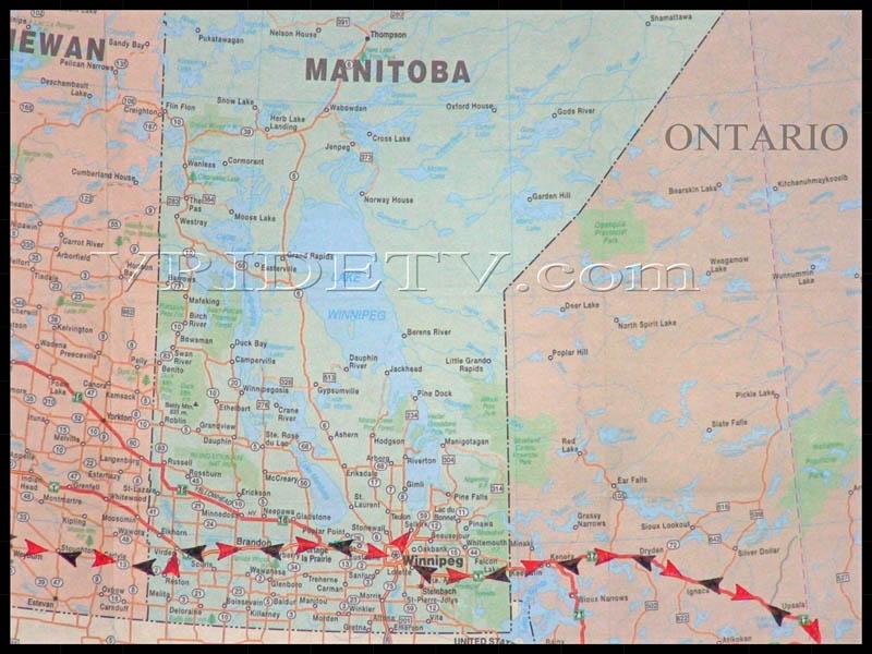 Motorcycle Roads Map Of Route Taken In SaskatchewanManitoba - Map of southern saskatchewan canada