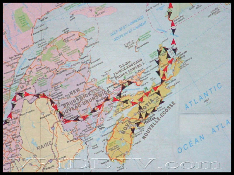 Motorcycle Travel Map of route taken in New BrunswickPrince – Virtual Travel Map