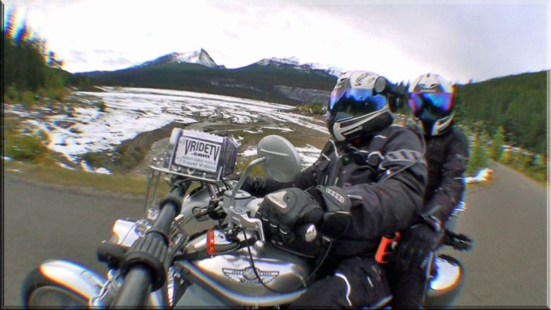 motorcycle ride at Medicine lake alberta canada