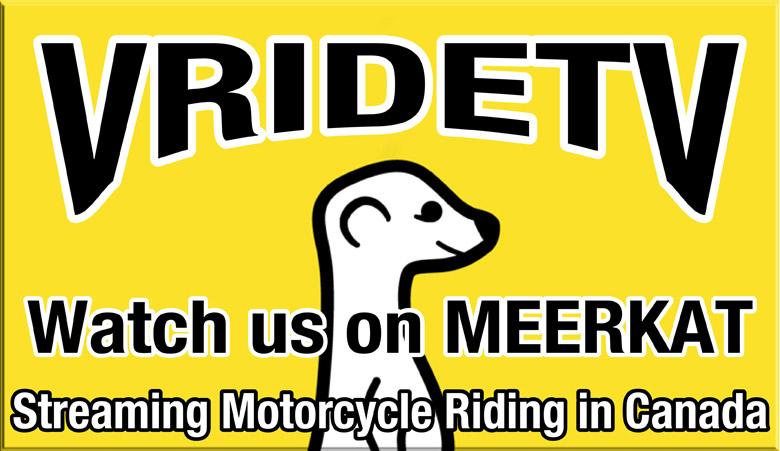 streaming motorcycle riding on meerkat
