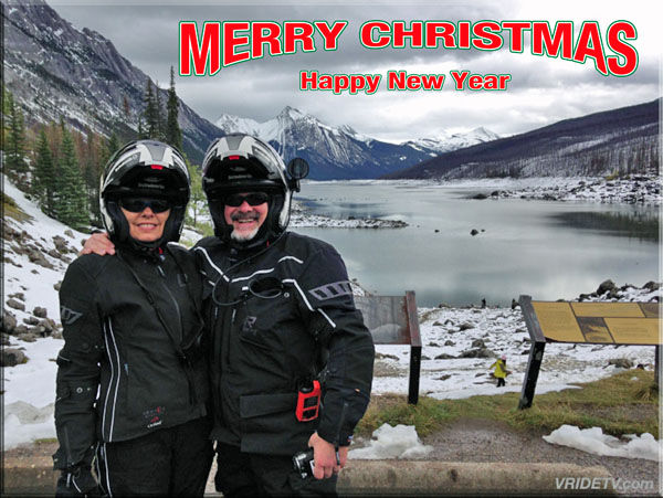 Merry christmas from Medicine Lake Jasper National Park