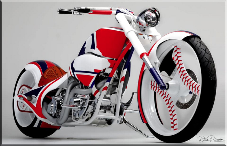 Pauls jr designs mlb bike and Ruthless Designz wheels
