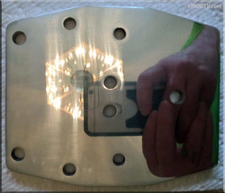 Motorbike camera plate