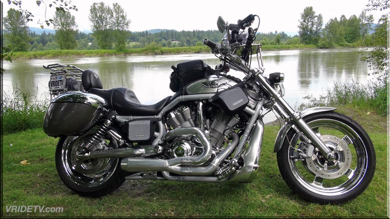 Harley Davidson at the Fraser River