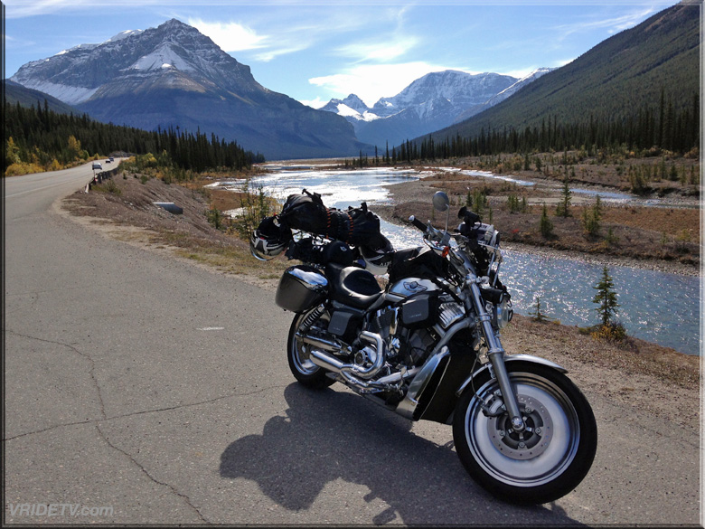 motorcycle rocky mountains