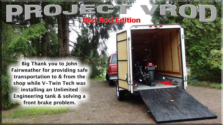 Motorcycle trailer service