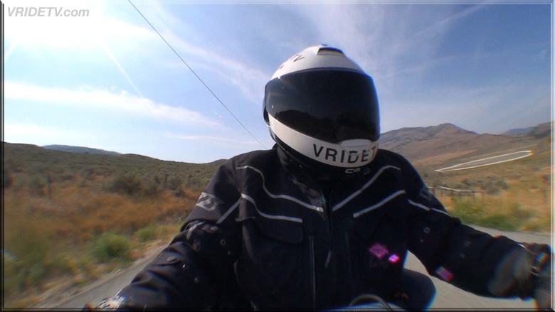 Okanagan motorcycle rider