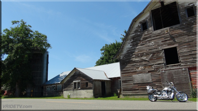 Old barn and motorcycle