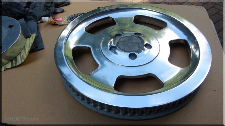 Polished Vrod pulley