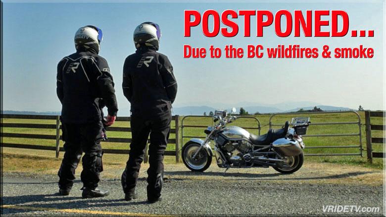 Motorcycle trip Postponed
