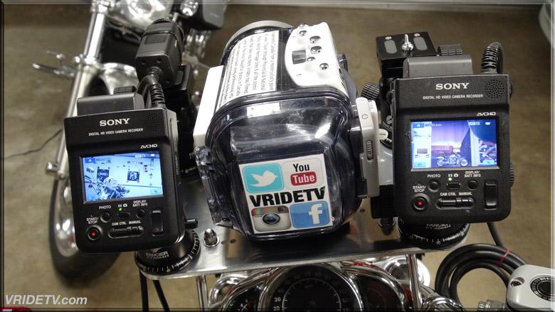 Professional motorcycle camera rig VRIDETVcom