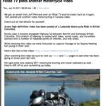 Special thanks once again to our media sponsor Canadian Motorcycle Rider online magazine. The Managing Editor, Webmaster Dan McAfee, has posted this article on our most recent video of a lakeside motorcycle alongside Nicola Lake BC. We appreciate you sharing this video with your viewers.