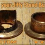 A friendly reminder to all Vrod owners: Check your jiffy stand (kickstand) bushings, the bottom always wears out before the top. It only takes a few minutes to look and only a few bucks if they need to be replaced. 2003 VRSCA pn: 53158-98