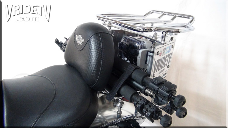 rear camera mount with tripod and luggage rack