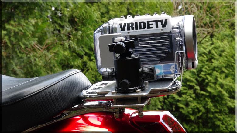 rear camera mount for motorcycle