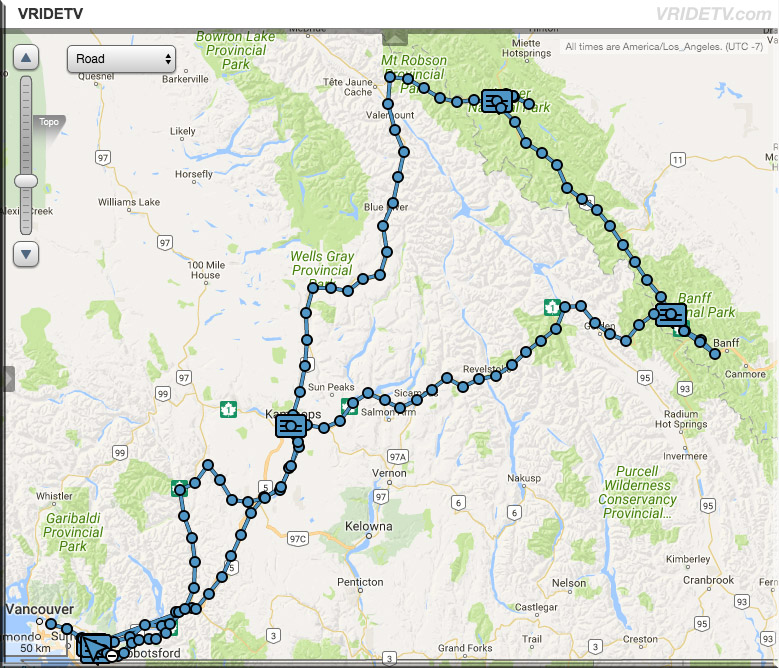 Rocky Mountain motorcycle ride map