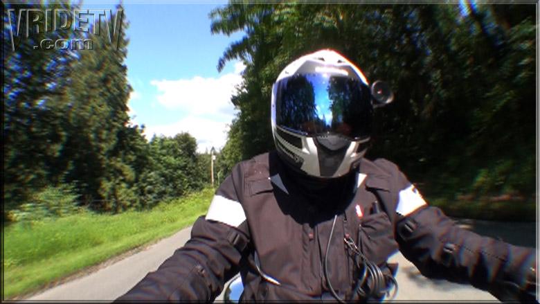 Motorcycle rider selfie