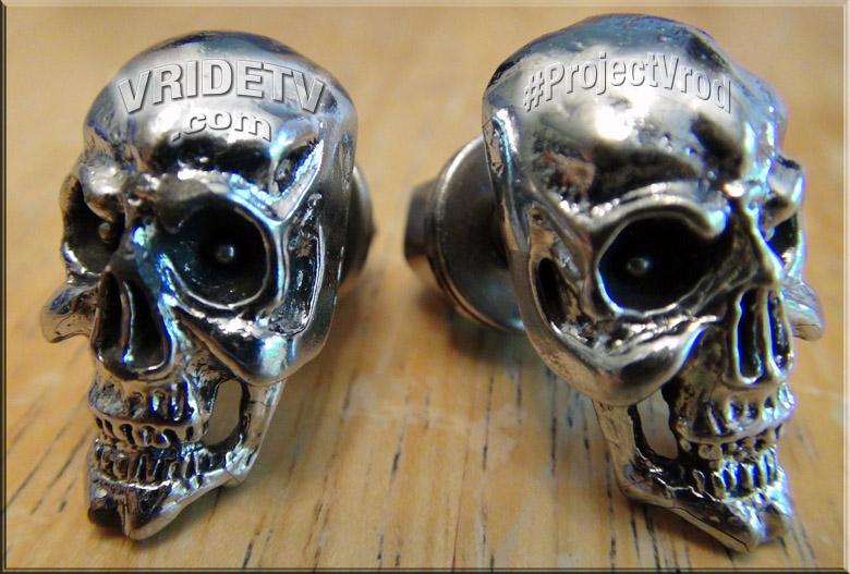 Skull head licence plate bolts