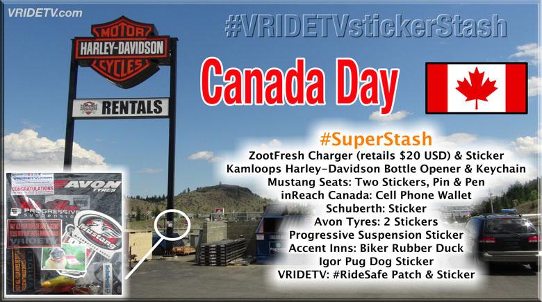 canada day sticker stash Kamloops Harley Davidson